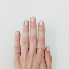Nails/dainty gold rings