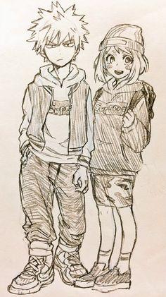 Bakugou Katsuki and Uraraka Ochako