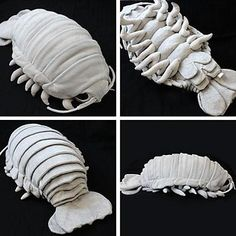 Awww, aren't they just adorable? In Japan, online store 'Hamee Strapya World' is selling the perfect cuddle buddy: a giant isopod plush doll that looks jus Plush Dolls, Doll Toys, Giant Isopod, Giant Plush, Old Teddy Bears, Plushie Patterns, Loom Patterns, Cute Plush, 3d Prints