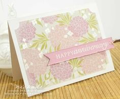 Hydrangea Anniversary Card by Nichole Heady for Papertrey Ink (May 2012)
