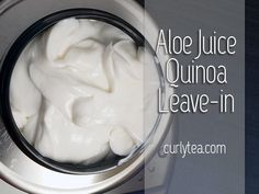 NEW Aloe Juice Quinoa Leave-in [VIDEO] #recipe is up! 😊 Check it out!  #diy #recipes #aloevera #aloejuice #hair #haircare #haircream #hairconditioner #conditioner #conditioners #leavein #leaveins #naturalhair #curly #curls #curlyhair #diyconditioner