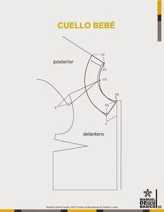 modelist kitapları: Manual-de-Patronaje-Basico-e-Interpretacion-de-Disenos Sewing Doll Clothes, Sewing Dolls, Pattern Cutting, Pattern Making, Baby Patterns, Sewing Patterns, Fashion Templates, Modelista, Collar Pattern