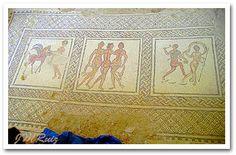 Villa Romana de Fuente Álamo: Mosaico tríptico y figurativo.