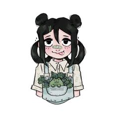 """13.5k Likes, 107 Comments - m i c h e l l e (@procrastiartist) on Instagram: """"Froppy featuring a tinier froggy doodle from last week! Happy Friday peeps! • • • #fanart #bnha…"""""""