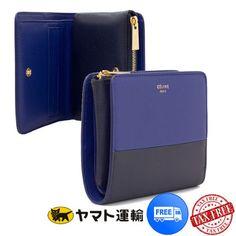 【CELINE】バイカラー 2つ折りコンパクト財布♪