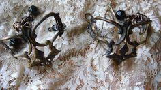 Vintage Victorian Upcycled Hardware Brass Cuff Set