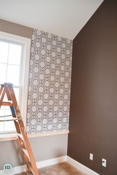 Playroom Makeover with Modern Wallpaper. #Wallpaper #playroom