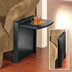 Need this for the hubbies sofa since the end table is so far away now! Tuc-Away Table, Portable Side Table, Small Sofa Table Small Living, Home And Living, Living Room, Living Spaces, Diy Tisch, Fold Down Table, Diy Casa, Sofa Side Table, Couch Table