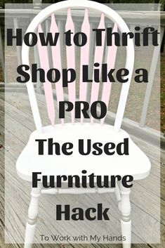 Used furniture is a mainstay of most thrift stores. Learn this hack and you can … Used furniture is a mainstay of most thrift stores. Learn this hack and you can add gorgeous pieces to your home for a fraction of the cost of new. Thrift Store Shopping, Thrift Store Crafts, Thrift Store Finds, Thrift Stores, Shopping Tips, Goodwill Finds, Diy Furniture Projects, Upcycled Furniture, Rustic Furniture