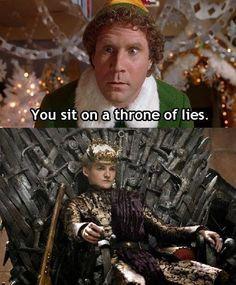 Game of Thrones + Elf = the best.