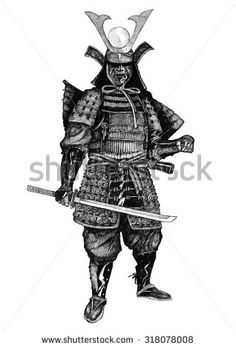 samurai japan - stock photo