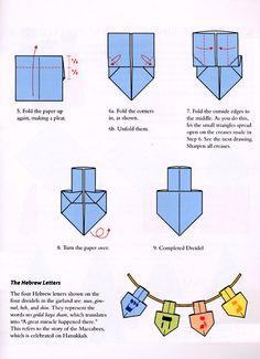 Dreidel Origami. Chanukah/Hanukkah.  Jewish Holiday Inspiration