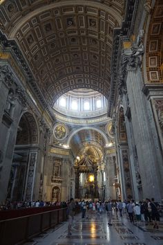 The majestic inside of the church.