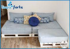 Blog Limpa Forte: Como fazer um sofá com palete