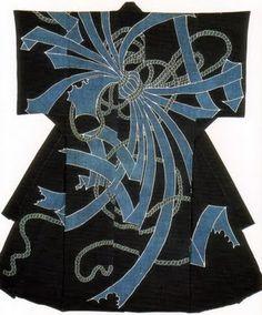 Kimono shaped comforter, Edo period, 19th century, indigo dyeing, cotton