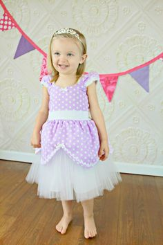 PRINCESS dress TUTU dress lavender  from Lover Dovers handmade girls birthday party  or vacation costume on Etsy, $58.00
