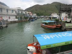 stilt houses, fishing boats in Tai O