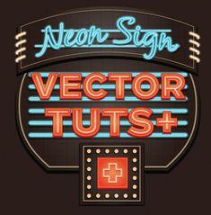 Create a Glowing Neon Sign #Illustrator
