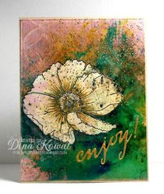 Bistre MIX111 Bleached Blossom by dini - Cards and Paper Crafts at Splitcoaststampers