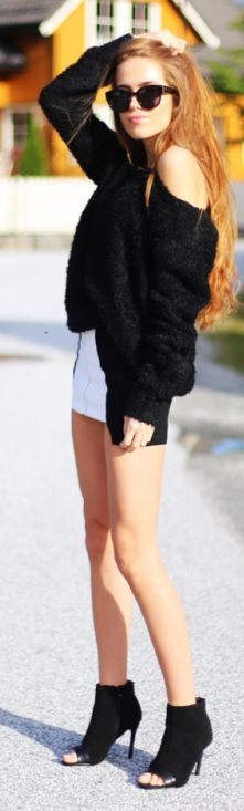 Black And White Casual Fall Inspo