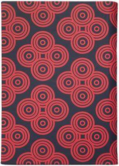 Jonathan Adler Mandala Cover in Navy and Red