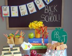 """School room  / Back to School """"Healthy Back to School Party """"   Catch My Party"""