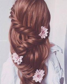 Ulyana Aster Romantic Long Bridal Wed ding Hairstyles_02 ❤ See more: http://www.deerpearlflowers.com/romantic-bridal-wedding-hairstyles/2/