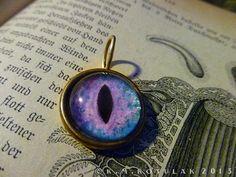 Iris Charm  Alien / Large  Brass Eye Pendant by Hibernacula