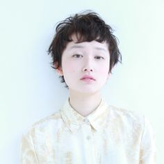 外人風ショート ヘアスタイルカタログ 髪型 HAIRstyle 美容室 可愛い short  ショート