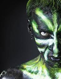 male tribal face paint - Google Search
