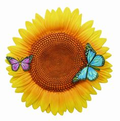 Spoontiques Sunflower Stepping Stone for sale Painted Stepping Stones, Stepping Stone Walkways, Decorative Stepping Stones, Mother Christmas Gifts, Mother Birthday Gifts, Mother Gifts, Garden Tool Set, Lawn And Garden, Home And Garden