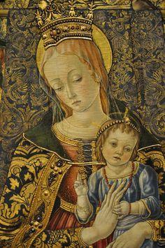 Vittore Crivelli: La Virgen y el Niño, 1481.