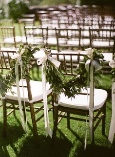Garland Wedding Chair Decor