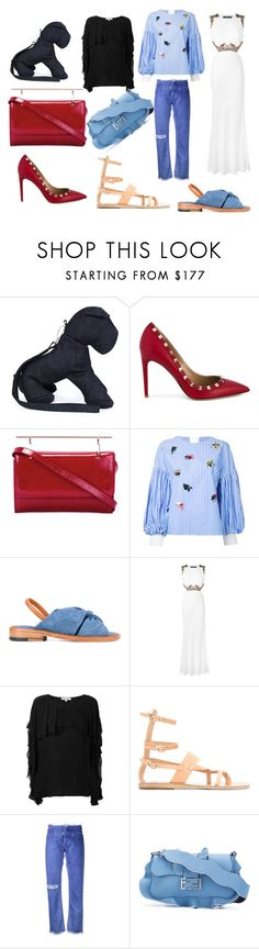"""""""casual Wear"""" by monica022 ❤ liked on Polyvore featuring Christopher Ræburn, Valentino, M2Malletier, Muveil, Robert Clergerie, Alexander McQueen, IRO, Ancient Greek Sandals, Alyx and Fendi"""