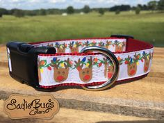 Reindeer dog collar - Christmas