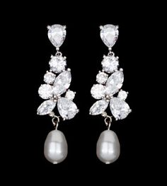 My wedding earrings :) Arriving in a month or so.. Regalia Madame Pearl Earrings - Stephanie Browne Australia