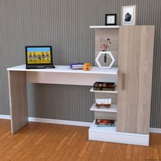 DIY computer desk ideas - do you want to make your own computer desk for your room or dorm? This is 21 list of DIY computer desk ideas with plans for your guide! Home Office Design, Home Design, Interior Design, Home Decor Furniture, Furniture Design, Computer Desk Design, Study Table Designs, Room Decor, Shelves
