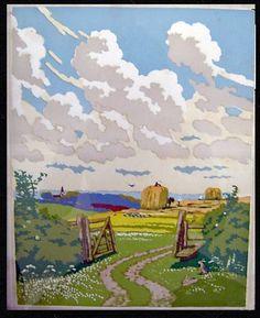 John Hall Thorpe woodcut
