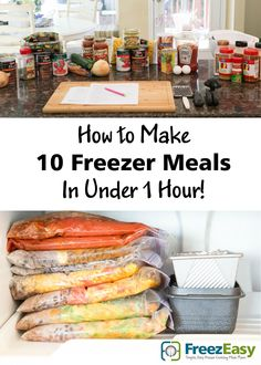 Make-ahead freezer meals is THE VERY BEST SOLUTION for the overwhelmed home chef. If you're looking to end the daily stress of getting a healthy meal on the table for your family, then I'm ready to teach and show you how to load your freezer with tasty, simple meals your family will love!  You'll have peace of mind knowing that dinner is already prepped!   Recipes, shopping list, step-by-step assembly details & instructional video...complete details at FreezEasy.com!