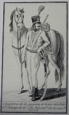 Carabineros Reales. Cazadores. Guardia de Honor del Almirante