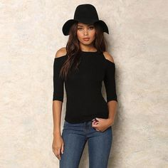 A Forever 2017 Hot Spring Summer Half Sleeve Tees Fashion T-Shirt Sexy Off Shoulder Shirt Women Tops Slim Solid T-Shirts 1124