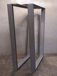 Contemporary Steel Table legs that just need a nice clean wood counter top or wood slab. Side welds on legs are grinded and polished and rest of