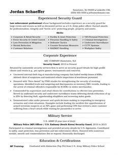 security guard resume sample security guard resume security guard