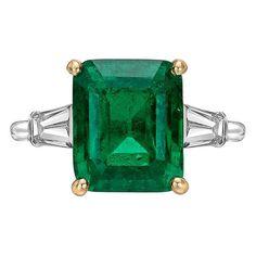 Cartier 4.99 Carat Colombian Emerald Diamond Ring at 1stdibs