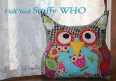 NEW PATTERN The 1/2 Yard Stuffy WHO Plush Owl Pillow Sewing Pattern. $7.50, via Etsy.