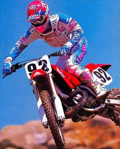 Factory Honda's Mike Kiedrowski piloting one of my all-time favorite tire shredders, the mighty 1990 CR500R. Tom Webb  #MXKied #TX10 #HeavyVibes #LovedThisColor