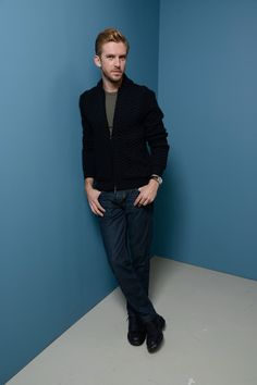 Actor Dan Stevens of 'The Fifth Estate' poses at the Guess Portrait Studio during 2013 Toronto International Film Festival on September 6, 2013 in Toronto, Canada.