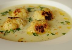 Sáfrányos karfiolleves a la Gordon Ramsay Crab Recipes, Soup Recipes, Diet Recipes, Chicken Recipes, Vegan Recipes, Cooking Recipes, Indian Dal Recipe, Ital Food, Veg Soup