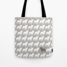 French Bulldog Silhouettes Pattern. Dogs, Animals, Frenchie, French Bulldog Lovers