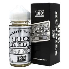 Just released today: The Hundies eJuic.... Check it out at: http://www.ejuices.co/products/the-hundies-ejuice-100-spot-100ml?utm_campaign=social_autopilot&utm_source=pin&utm_medium=pin